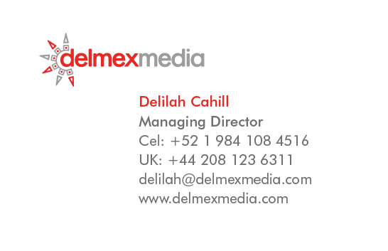 delmexmedia business card - back