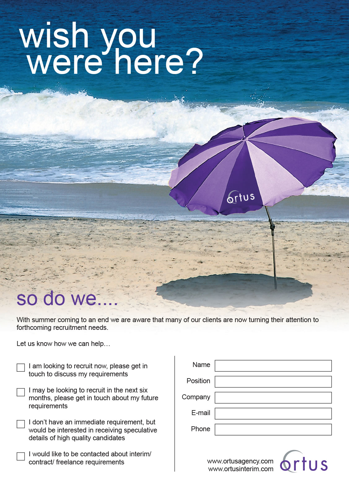 Ortus - Direct mail - Side 1