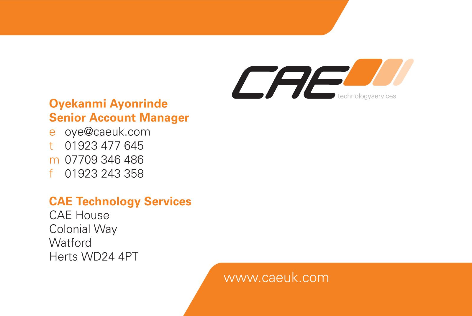 cae - business card