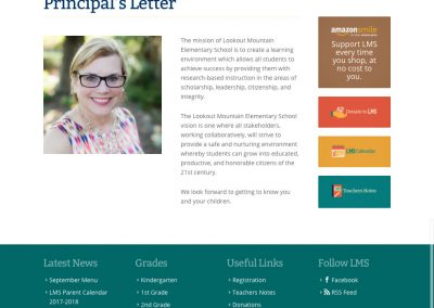 Lookout Mountain School - Principal Letter