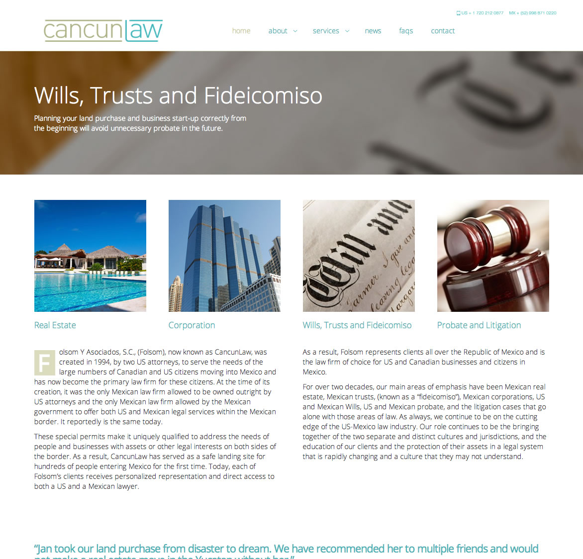 Cancun Law - Homepage