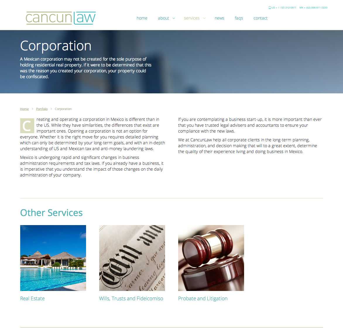 Cancun Law - Corporation Page