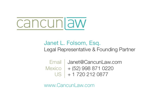 Cancun Law Business Cards - Back