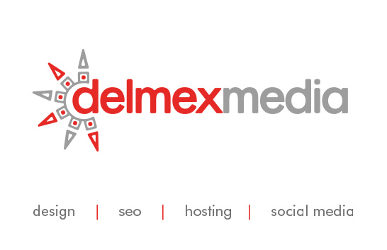 delmexmedia business card - front