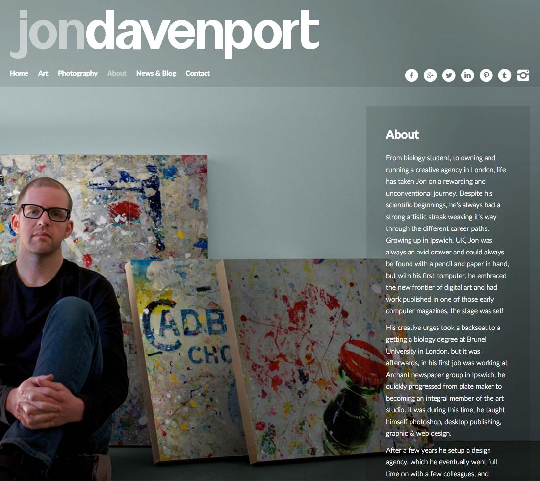 Jon Davenport Art - About