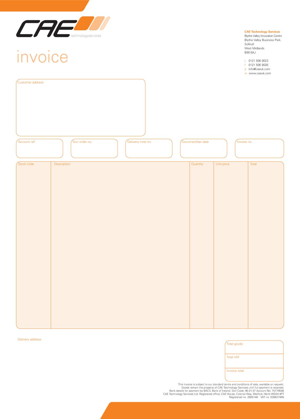 cae - invoice