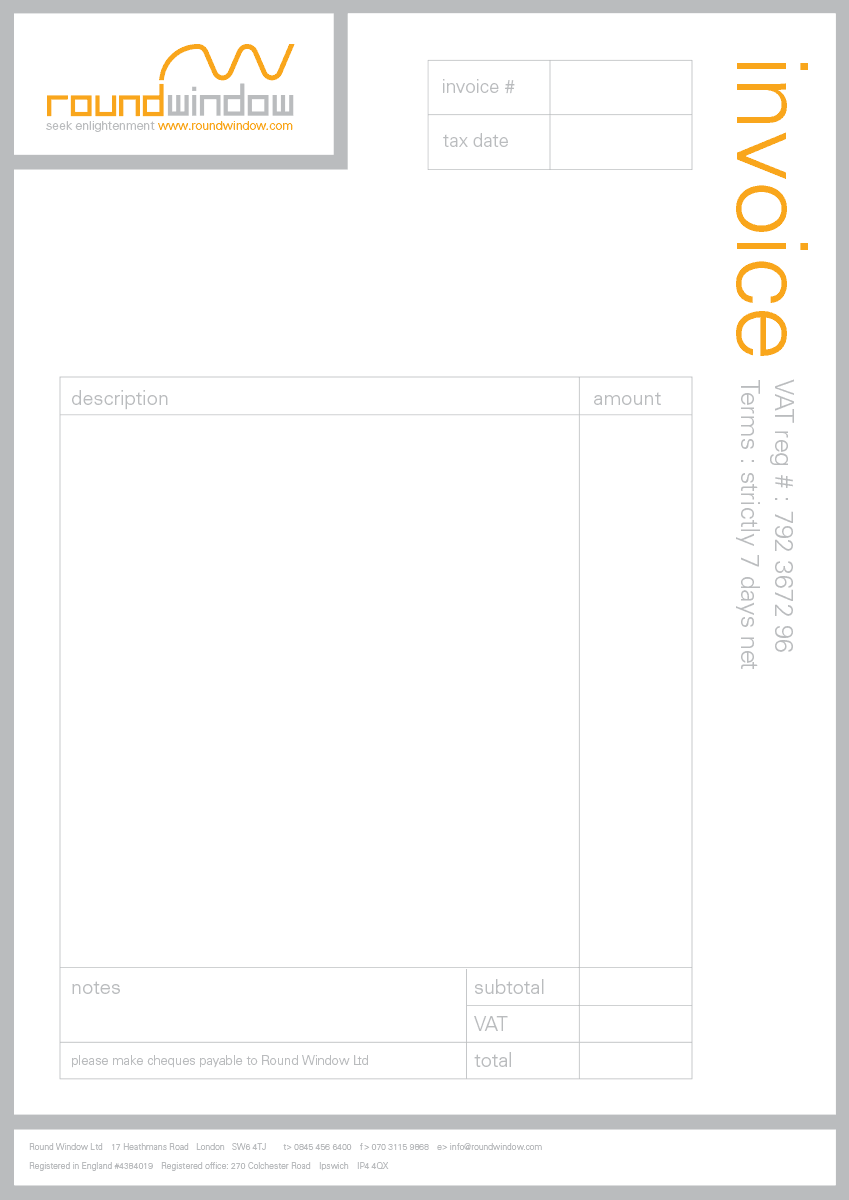 Round Window - Invoice