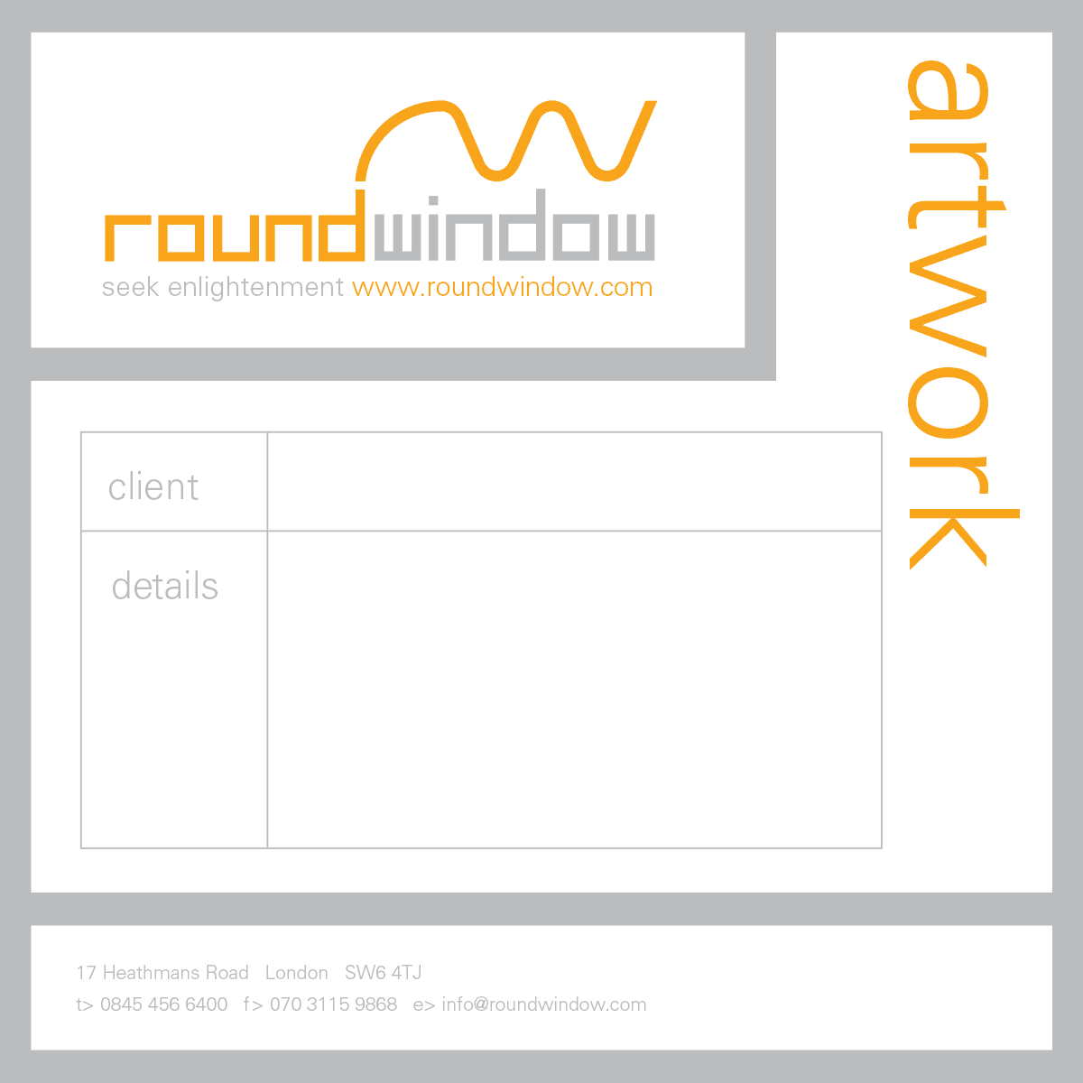 Round Window - Label